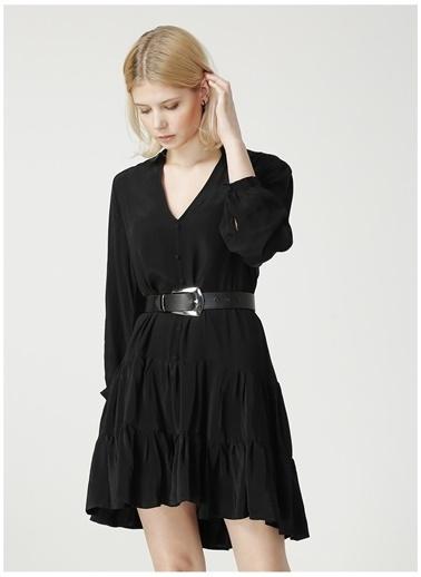 Limon Company Limon Düz Siyah Kadın Elbise Siyah